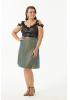 Green plus size velvet 13 sleeveless mini dress