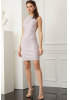 Powder velvet 13 sleeveless mini dress