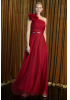 Claret red woven maxi dress