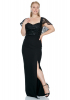 Black plus size maxi dress