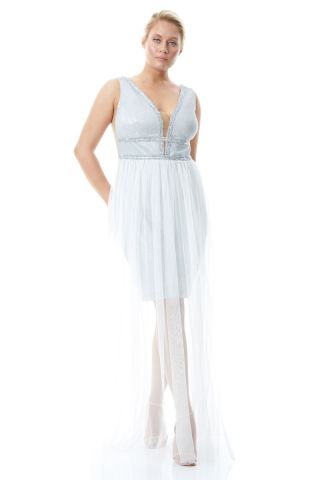 White plus size velvet 13 sleeveless maxi dress
