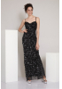 Black sequined sleeveless maxi dress