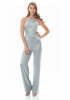 Silver knitted sleeveless long overall