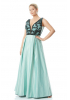 Mint green plus size satin sleeveless maxi dress