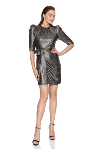 Silver velvet 13 sleeveless midi dress