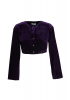 Purple velvet long sleeve blouse