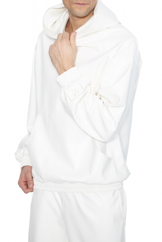 White leather long sleeve