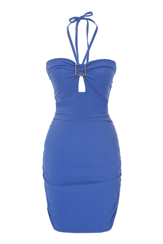 crepe sleeveless mini dress