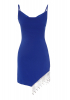 Sax crepe sleeveless mini dress