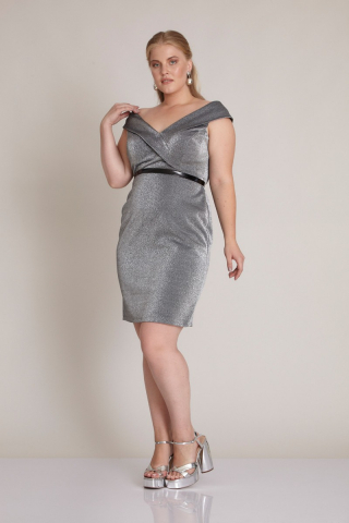 Black plus size sleeveless mini dress