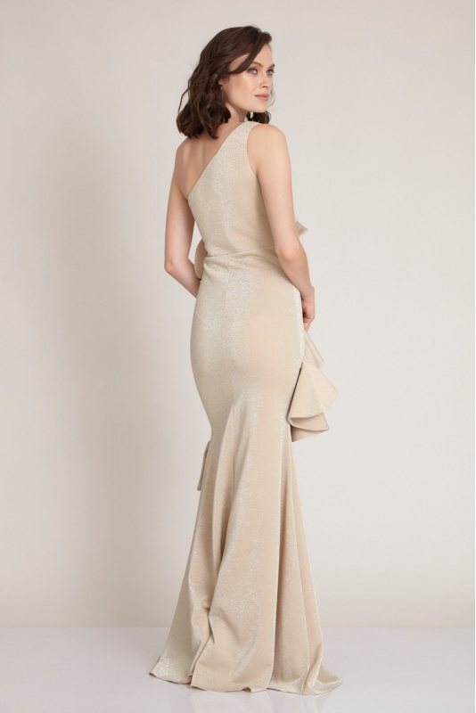 Beige knitted maxi dress