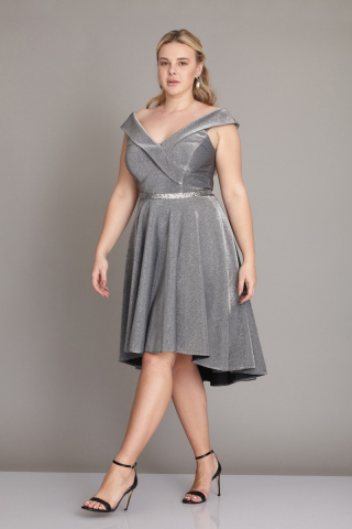 Silver plus size dress
