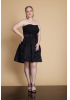 Black plus size crepe strapless mini dress
